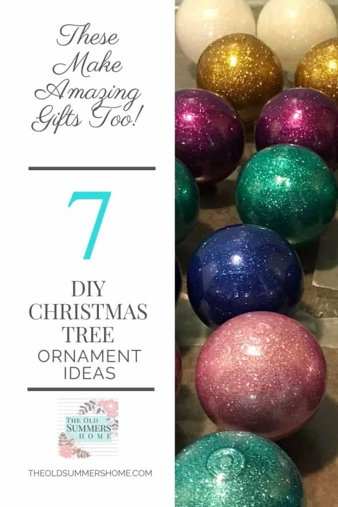 DIY Christmas Tree Ornaments with The Old Summers Home. Make personalized gifts for all your friends and family!