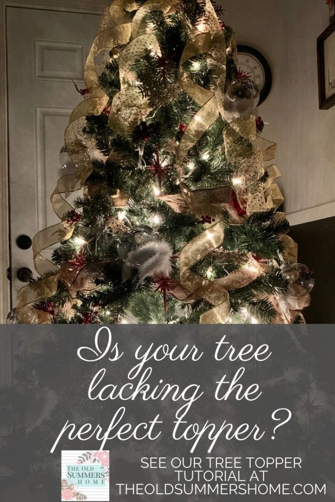 Is your tree missing the most important touch? Don't let your Christmas decor get you down. Come see how to finish your tree with the perfect tree topper! #AngelTreeTopper #ChristmasTreeTopper #WoodenAngelTutorial