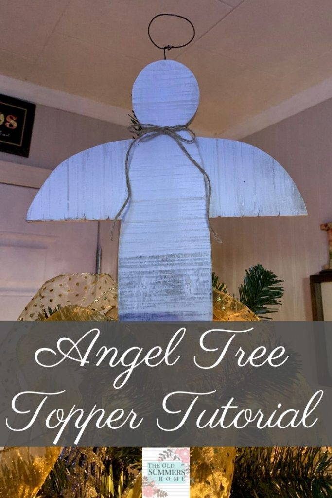 Are you looking for a great DIY Christmas Tree Topper? Our Angel Tree Topper is a little bit rustic and a whole lotta farmhouse. Come see the full tutorial and how to hang this beautiful Angel on your Christmas Tree!