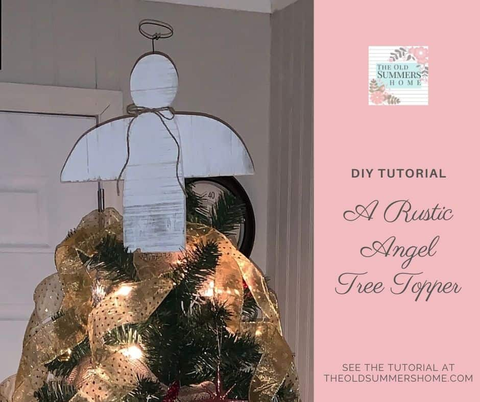 Our angel tree topper is the perfect way to complete a farmhouse tree!