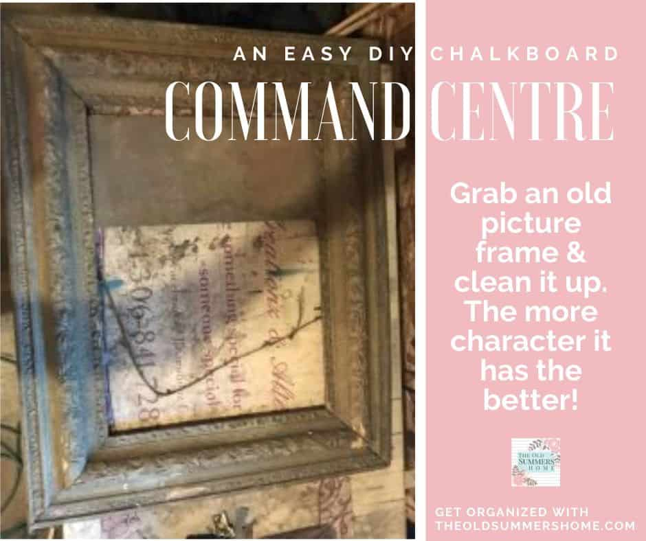 Restore a dirty old picture frame into something beautiful again! look for old frames with lots of character. It is ok if they are broken.