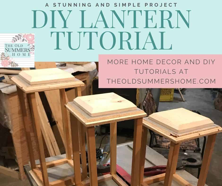 Our Lanterns are simply assembled using an air nailer to hold the pieces together.