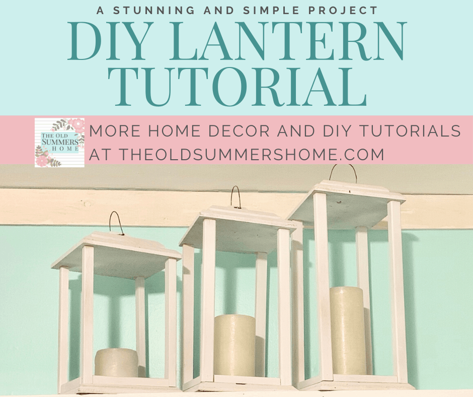 Our DIY Lantern Tutorial is a simple, stunning way to add to your home decor. using scrap wood keeps this project on the frugal side!
