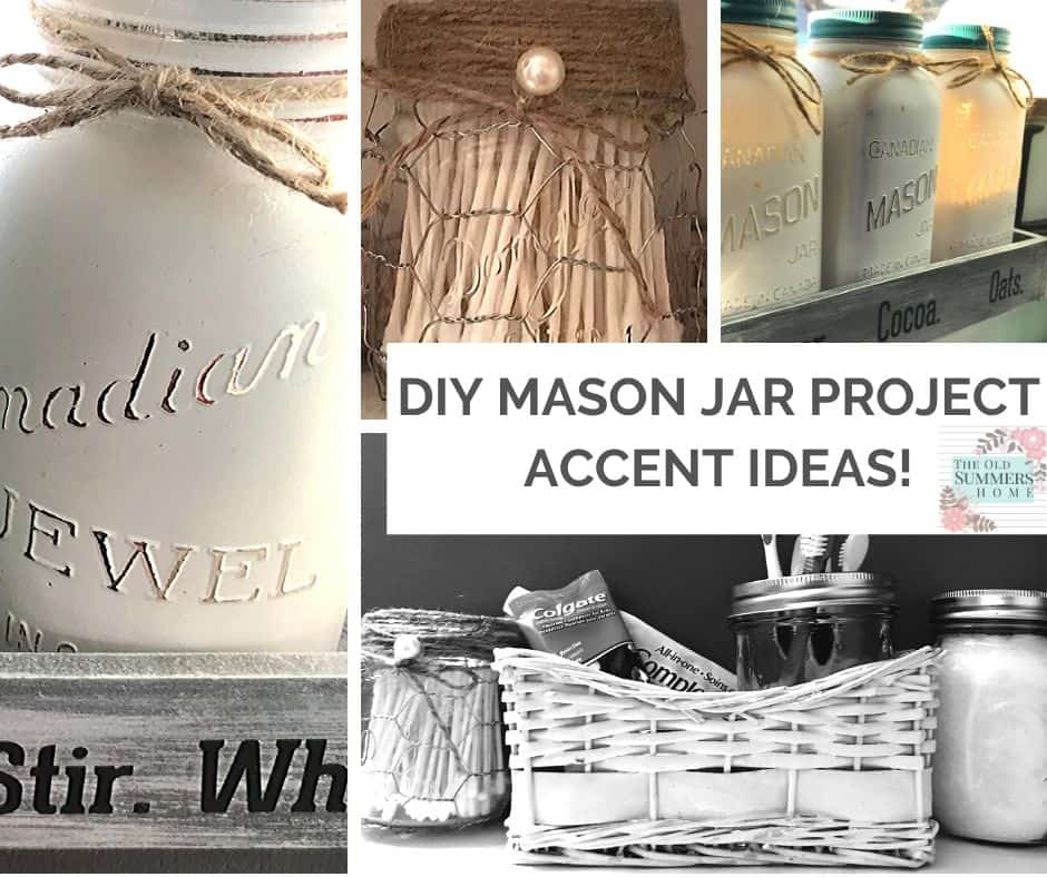 DIY Mason Jar Projects are versatile for any room in your home. Add an accent to add your own personal touch!