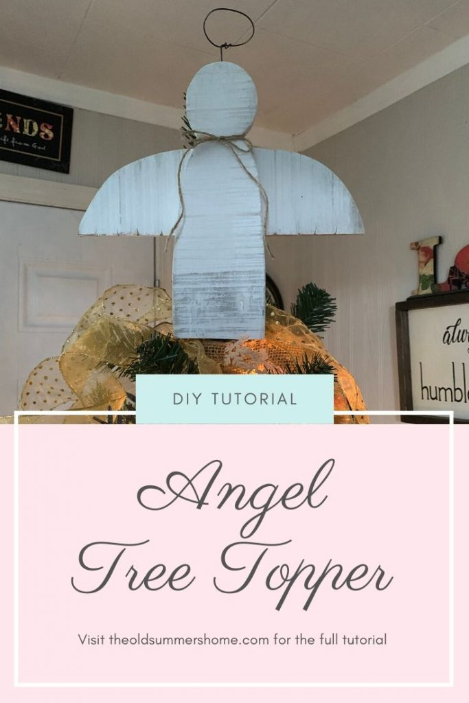 Our Angel Tree Topper is the perfect finishing touch to our Farmhouse Christmas tree. Come see how easy it is to make your very own Angel Tree Topper!
