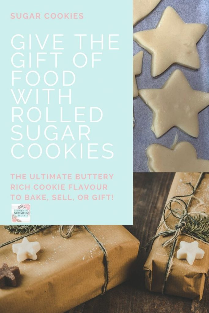 Easy soft and oh so good! This rolled sugar cookies recipe is the perfect gift for the holidays! #ChristmasBaking #CookieRecipes #RolledSugarCookies #SugarCookiesRecipe #BakedGifts #HomemadeGiftIdeas