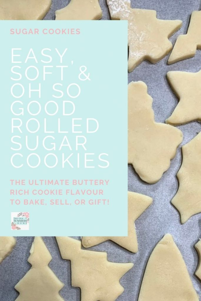 Easy soft and Oh So good! This rolled sugar cookies recipe is perfect for the holidays using your favourite cookie cutters! #ChristmasBaking #CookieRecipes #RolledSugarCookies #SugarCookiesRecipe