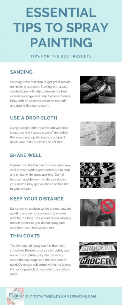 These are our best tips for spray painting and ensuring you get great results every time! For more great tips follow along at theoldsummershome.com