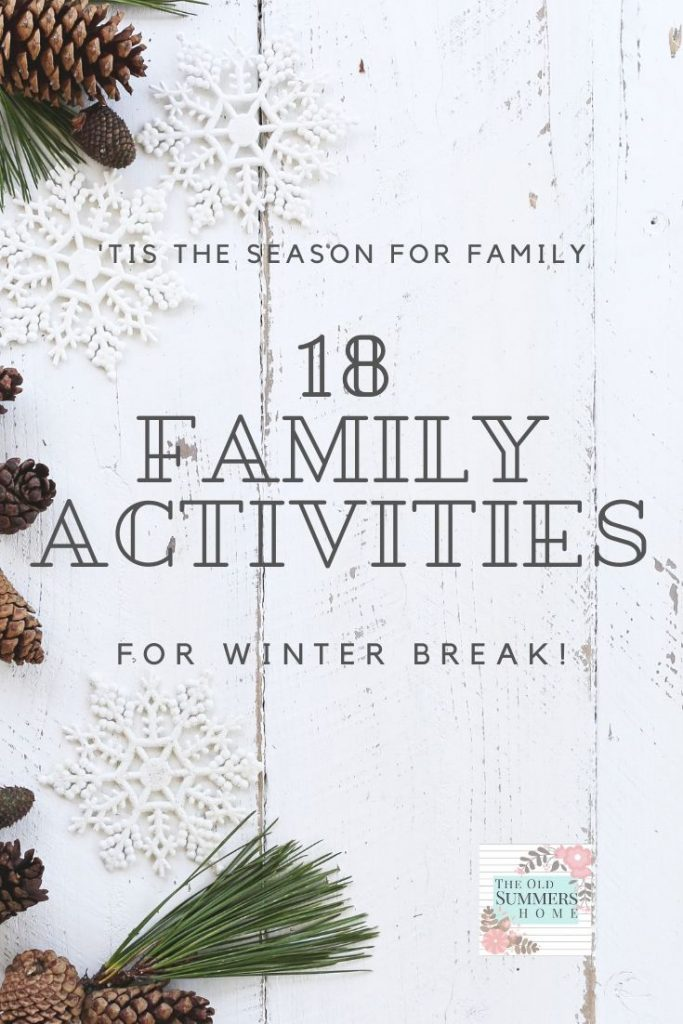 18 family activities to entertain everyone in your household on a budget all rolled into an easy download list! Get your winter break planned now!