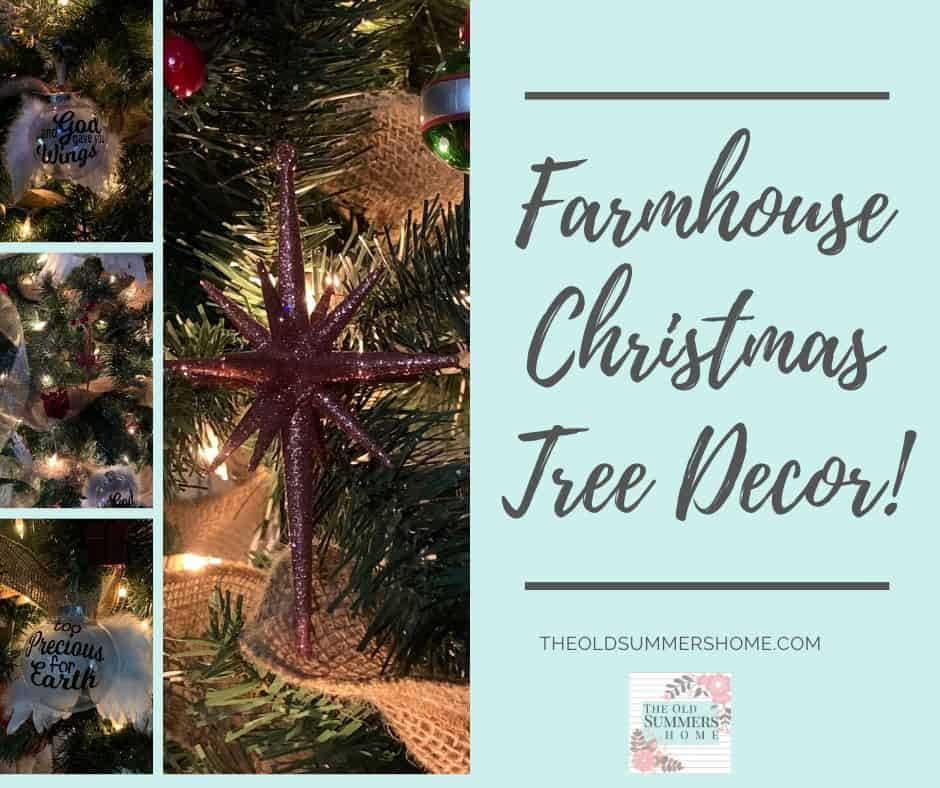 Our Handmade Christmas Ornaments go perfectly with or traditional ornaments and burlap making this tree a farmhouse delight!