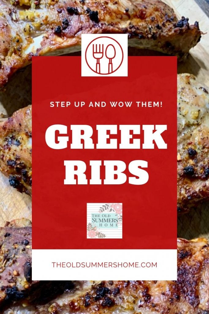 Our Greek Oven Rib Recipe is simple to make. The perfect solution for busy moms making weeknight meals a snap!