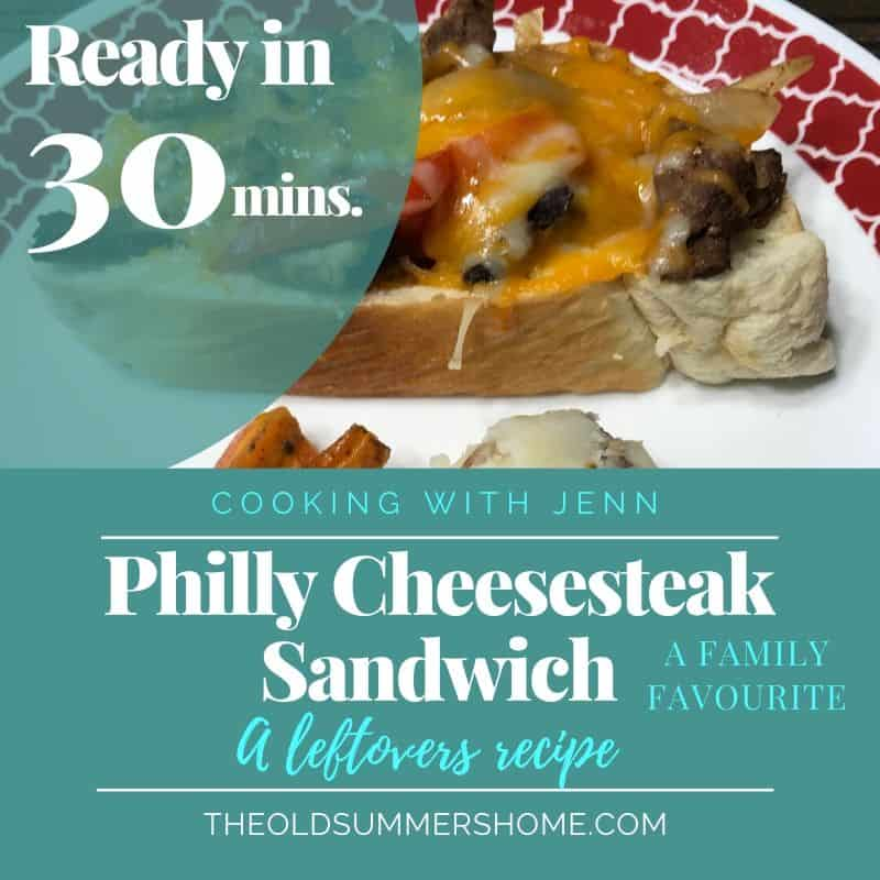 Philly Cheesesteak Leftover recipe is an easy recipe for busy moms ready in 30 minutes or less!