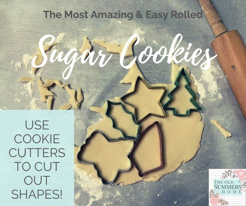 Roll out sugar cookies and cut with favourite cookie cutters