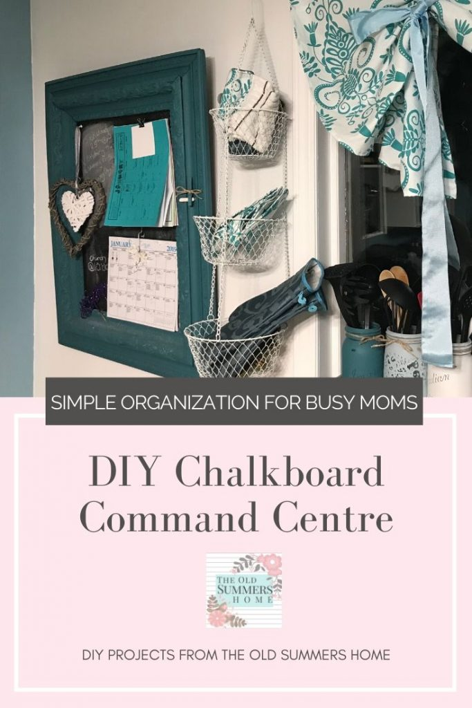 Our DIY Command Centre is the perfect organizational chalkboard for busy moms! Simplify the busy days with repurposed picture frame!