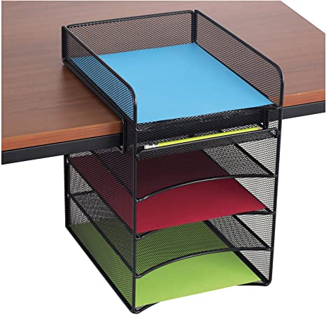 12 Creative Under Desk Storage Ideas 2 914KhTQ2EjL. AC SY450 The Old Summers Home We've gathered up some of the best under desk storage ideas on the internet to help you make the most of your limited home office space.