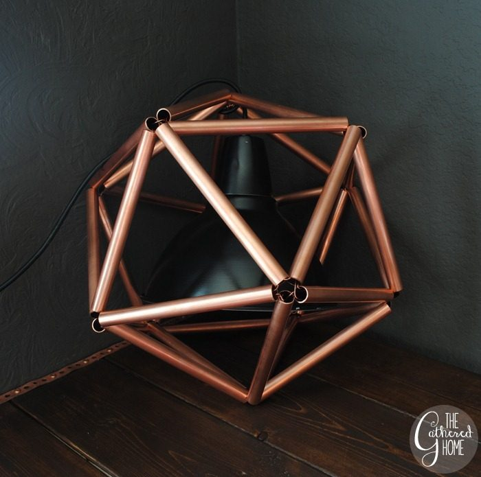 17 Steampunk Bathroom Ideas and DIY Projects 14 DIY Copper Pipe Icosahedron Light Fixture25255B325255D 700x695 1 The Old Summers Home This collection of the best steampunk bathroom ideas and DIY projects will inspire you as you create a unique bathroom in your home.