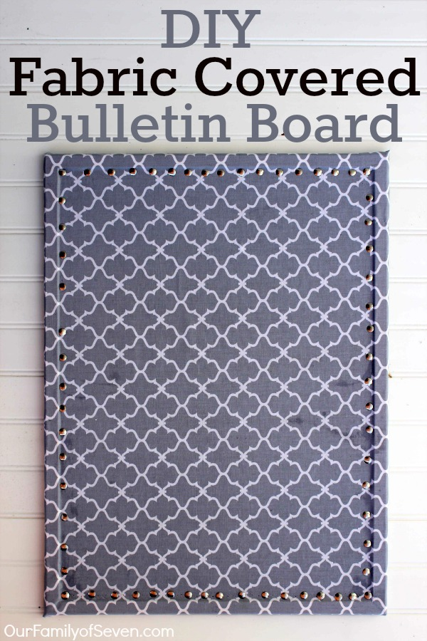 Office Decorating Ideas on a Budget 7 DIY Fabric Covered Bulletin Board 1 The Old Summers Home Make your workspace more enjoyable with these office decorating ideas on a budget. You'll be more productive with a pleasant work atmosphere!