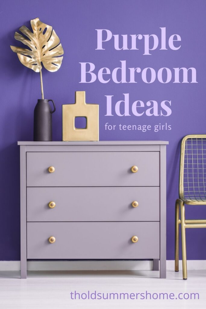 Purple Bedroom Ideas for Teenage Girls 16 Purple Bedroom Ideas The Old Summers Home Purple bedrooms make a statement! Before you start that makeover, check out these purple bedroom ideas for teenage girls. She will love her new bedroom decor!