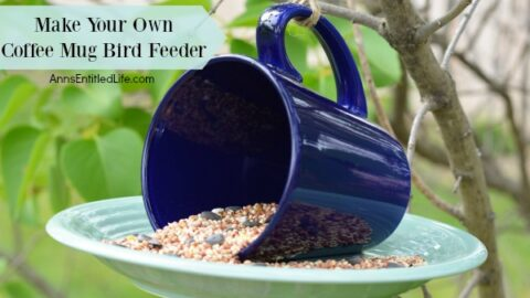 12 Easy DIY Bird Feeders to Make Today 9 coffee mug bird feeder horizontal.jpgp17812 The Old Summers Home Creating a space that's inviting to birds isn't hard to do. Simply provide food and the birds will come. Make one of these 12 easy DIY bird feeders today!