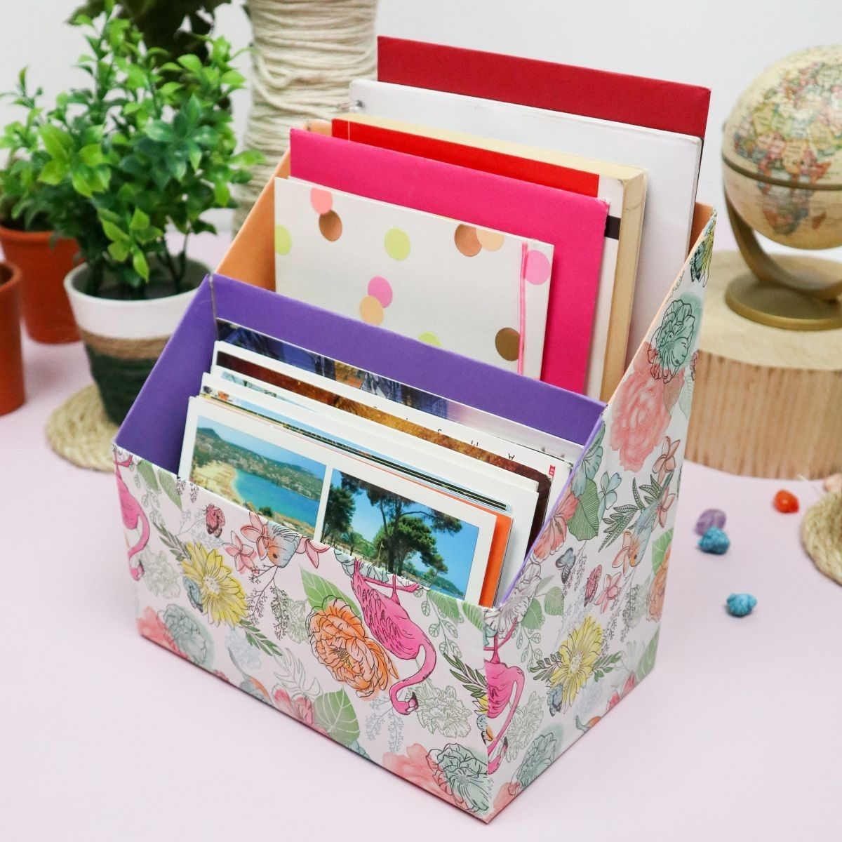 Office Decorating Ideas on a Budget 6 diy desk organizer out of cereal boxes featured The Old Summers Home Make your workspace more enjoyable with these office decorating ideas on a budget. You'll be more productive with a pleasant work atmosphere!