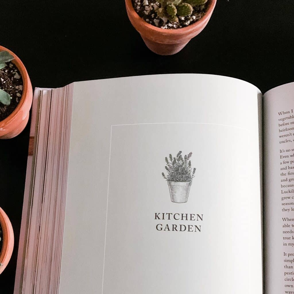 kitchen garden section of Simply Living Well