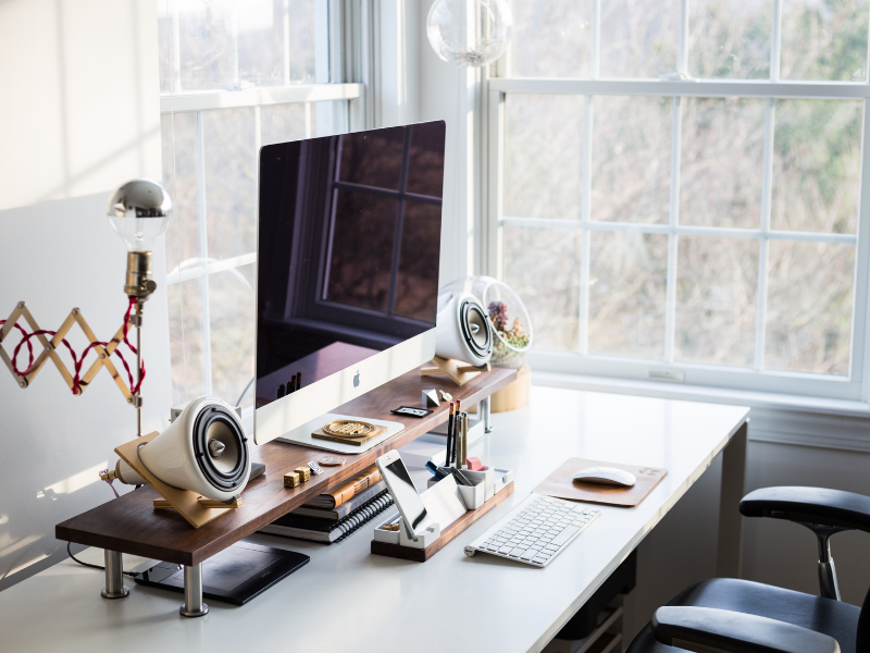 12 Creative Under Desk Storage Ideas 1 office desk The Old Summers Home We've gathered up some of the best under desk storage ideas on the internet to help you make the most of your limited home office space.