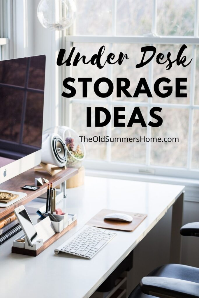 12 Creative Under Desk Storage Ideas 14 under desk organization The Old Summers Home We've gathered up some of the best under desk storage ideas on the internet to help you make the most of your limited home office space.