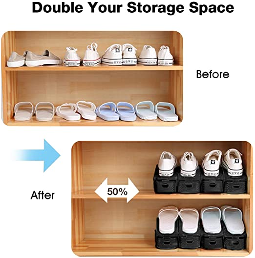 Clever Shoe Organization Ideas 3 71pVnJNFjcL. AC SX522 The Old Summers Home Get organized with this list of suggestions, products and DIY projects to help you organize shoes all over your house.