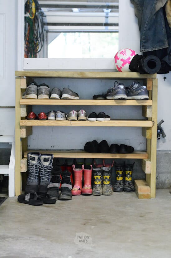 Clever Shoe Organization Ideas 6 Garage shoe rack organizer The Old Summers Home Get organized with this list of suggestions, products and DIY projects to help you organize shoes all over your house.