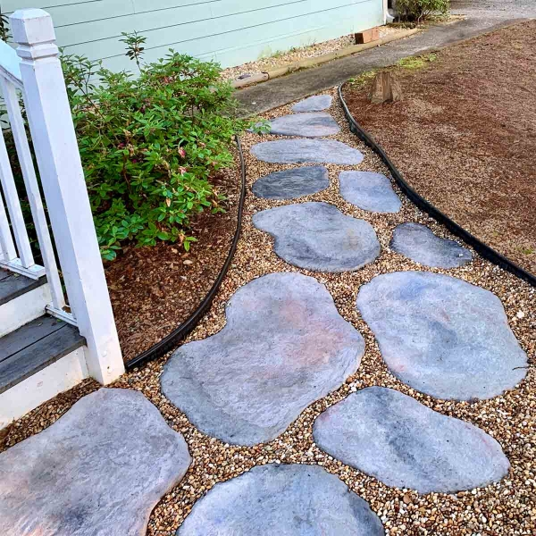 Beautiful Landscaping Ideas for Front of House 5 final concrete stepping stones from south 1 e1587909648457 The Old Summers Home We've gathered up loads of simple landscaping ideas to inspire and motivate you. Dust off your work gloves because you're going to want to implement several