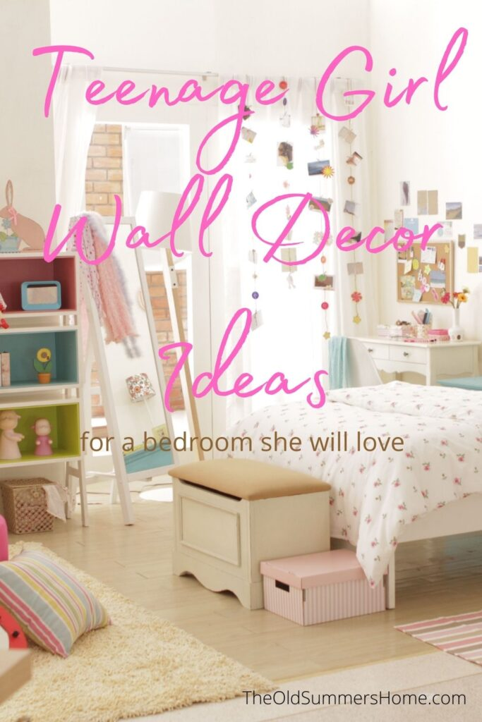 18 Teenage Girl Wall Decor Ideas for Her Bedroom 15 teen girl wall decor The Old Summers Home The Old Summers Home is a DIY rustic home decor blog. We have amazing DIY posts showing you how we recreated our old house into our sweet little rustic home.