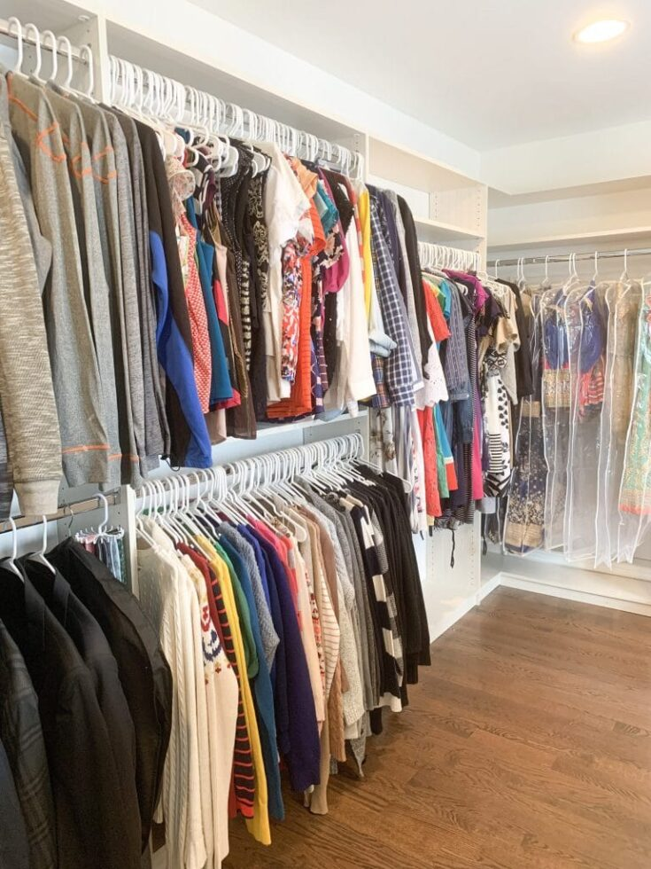 20+ Best Closet Shelf Ideas for Organization 6 color coordinated closet 768x1024 1 The Old Summers Home If you are ready to make the most of your available closet space, you will love these closet shelf ideas.
